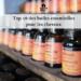 Visuels de l'articles avec des huiles essentielles sur une étagère