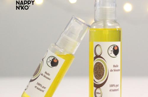 Huile de sésame 100% naturelle, pure et de première pression à froid de Nappy N'ko