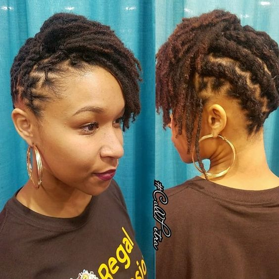 Side hair locs , Pinterest